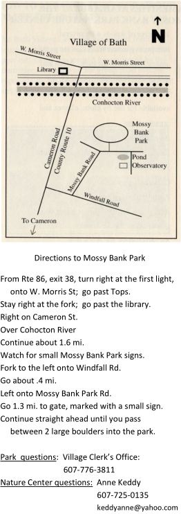 Directions to Mossy Bank
